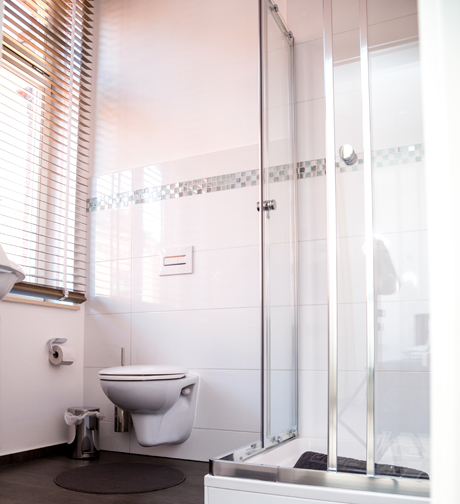 Badezimmer im La Plaisante im Hotel Dömitz